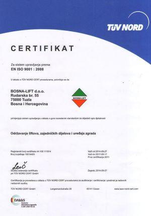 Certifikat - TUV NORD